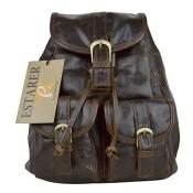 Estarer Damen Lederrucksack Echtes Leder Vintage Rucksack Vintage Rucksack Cityrucksack Stadtrucksack Unitasche